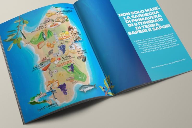 Cartina Sardegna Gambero Rosso pagine
