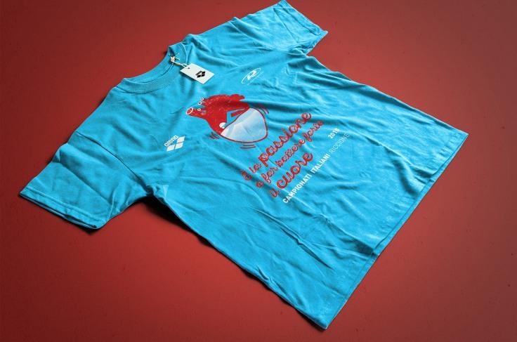 Tshirt- nuoto cuore_3
