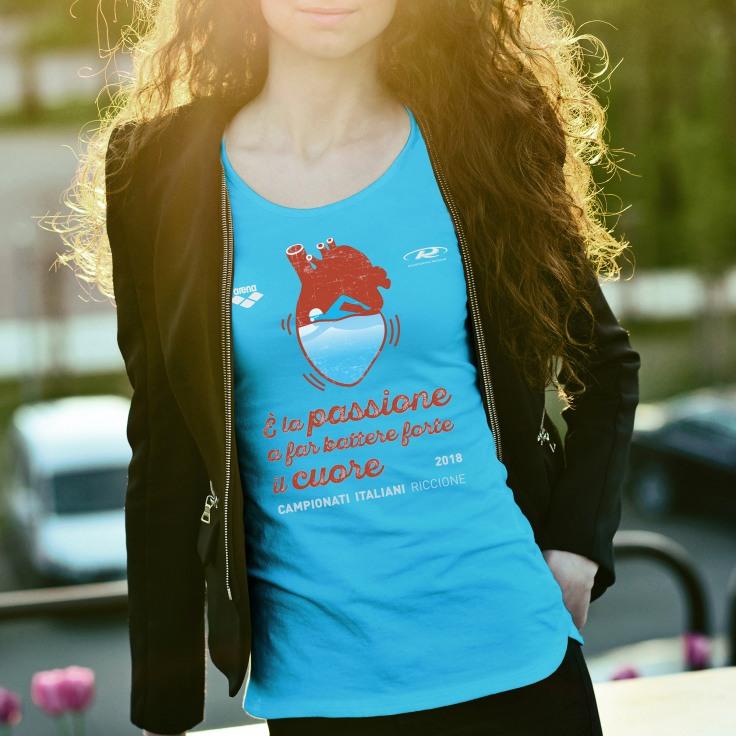 Tshirt- nuoto cuore_4